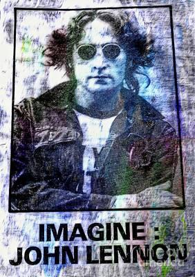 imagine-- John Lennon Poster by Ian Gledhill