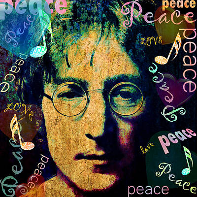Imagine - John Lennon Poster by Stacey Chiew