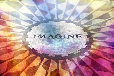 Imagine Sign Poster by Lutz Baar
