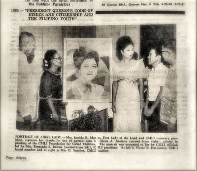 Imelda Marcos 1967 B Poster by Glenn Bautista