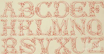Imitation Saxon Poster by English School