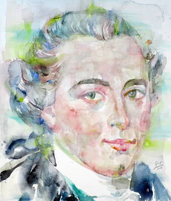 Immanuel Kant - Watercolor Portrait Poster by Fabrizio Cassetta