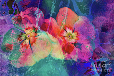 Impatiens Abstract Poster by Deborah Benoit