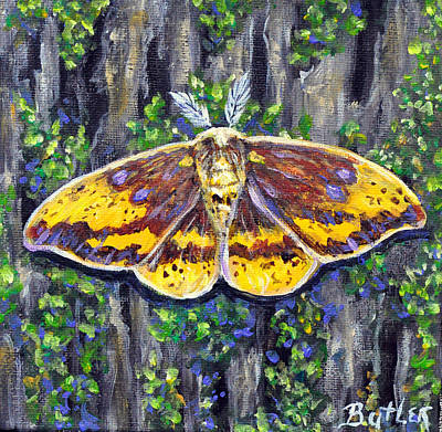 Imperial Moth Poster by Gail Butler