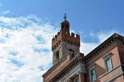 Important Brick Building In Foligno, Italy Poster