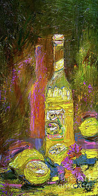 Poster featuring the painting Impressionism Still Life With Lemons by Ginette Callaway