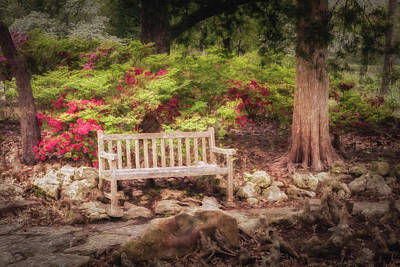 Poster featuring the photograph Impressionist Bench by James Barber