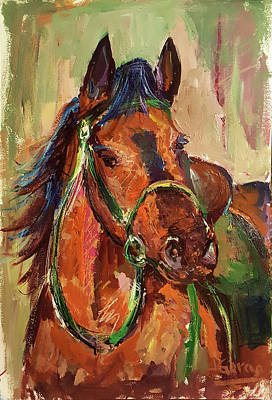 Impressionist Horse Poster by Janet Garcia