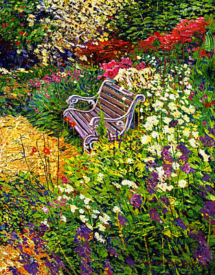 Impressionist Painter's Chair Poster by David Lloyd Glover