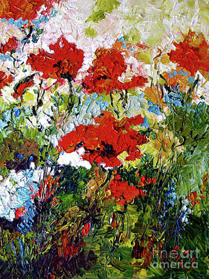 Impressionist Red Poppies Provencale Poster