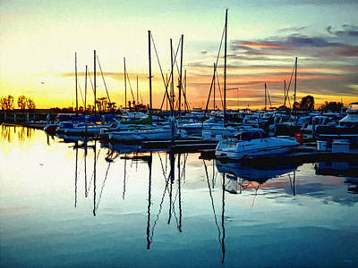 Poster featuring the photograph Impressions Of A San Diego Marina by Glenn McCarthy Art and Photography