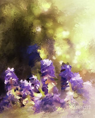 Poster featuring the digital art Impressions Of Muscari by Lois Bryan