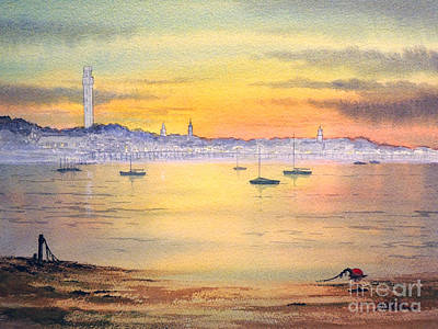 Poster featuring the painting Impressions Of Provincetown by Bill Holkham