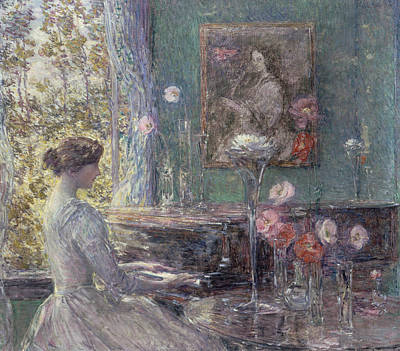 Improvisation Poster by Childe Hassam