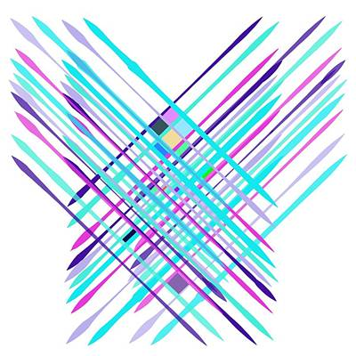 Poster featuring the digital art Improvised Geometry #2 by Bee-Bee Deigner