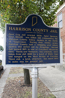 In-31.1965.2 Harrison County Jail Poster by Jason O Watson
