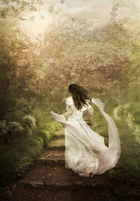 In A Flowering Garden Poster by Margarita Nizharadze