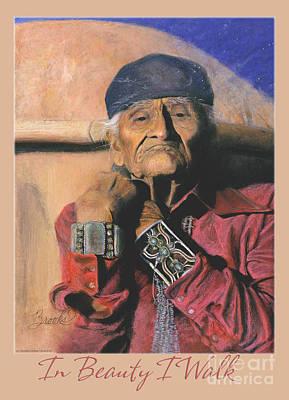 In Beauty I Walk 2 - Pastel Art - Native American Poster