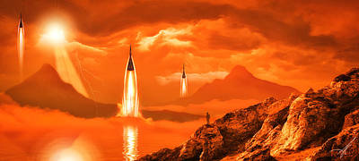 Poster featuring the photograph In Defense Of The Orange Planet by Anthony Citro