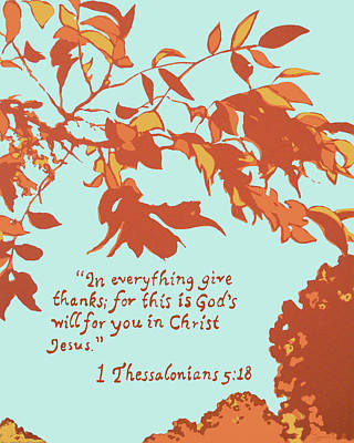 In Everything Give Thanks Poster