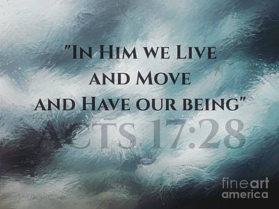 In Him We Live... Poster
