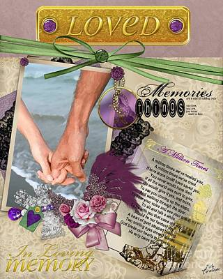 In Loving Memory Poster by Kathy Tarochione