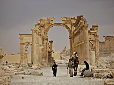 Poster featuring the photograph In Old Palmyra by Cendrine Marrouat