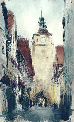 In Old Town Poster by Yury Malkov