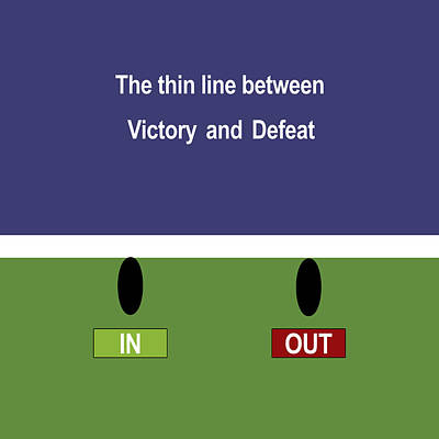 In Out - The Thin Line Between Victory And Defeat Poster by Carlos Vieira