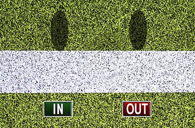 In Out - Wimbledon Poster by Carlos Vieira