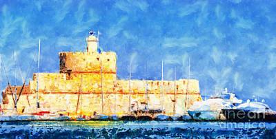 In Rhodes Fort Poster by Magomed Magomedagaev