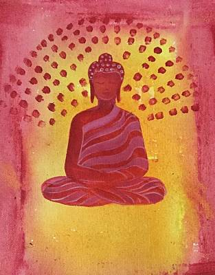 In Search Of Life - Lord Buddha Poster by Nayna Tuli Fineart