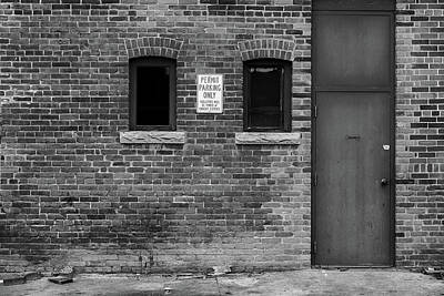 Poster featuring the photograph In The Alley by Monte Stevens