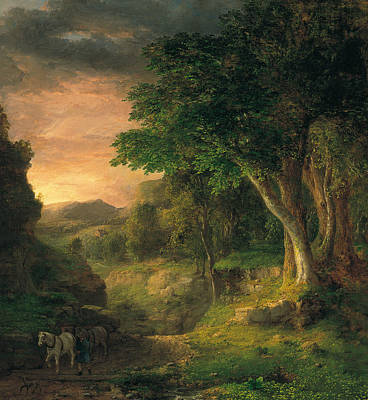 In The Berkshires Poster by George Inness