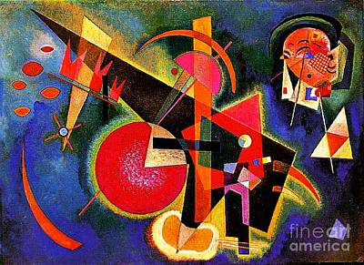 In The Blue Poster by Kandinsky