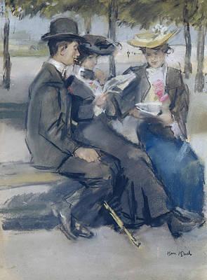 In The Bois De Boulogne Close To Paris Poster