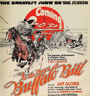 In The Days Of Buffalo Bill 1922 Poster by Mountain Dreams