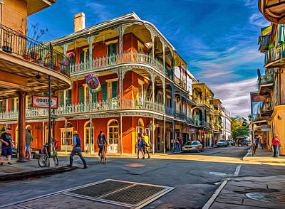 In The French Quarter - 2 Paint Poster by Steve Harrington