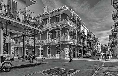 In The French Quarter - 3 Bw Poster