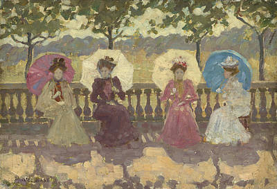 In The Park - Paris Poster by Maurice Brazil Prendergast