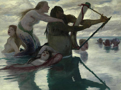 In The Sea Poster by Arnold Bocklin