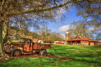 In The Shade Georgia Farm Scene Art Poster by Reid Callaway