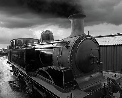 In The Siding - Metropolitan Steam Train Poster by Gill Billington