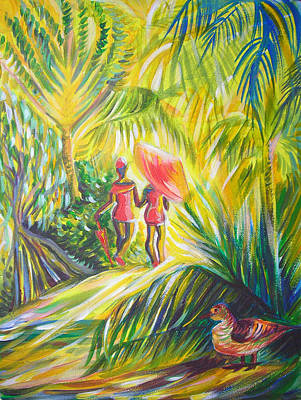 Poster featuring the painting In The Tropics by Anna  Duyunova
