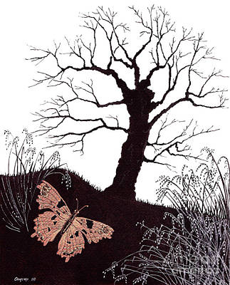 Poster featuring the painting In The Winter Woods by Stanza Widen