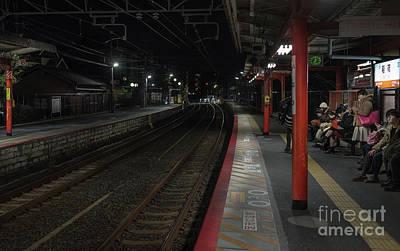 Inari Station, Kyoto Japan Poster