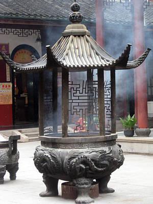 Incense Burner Shanghai Poster by Lisa Boyd