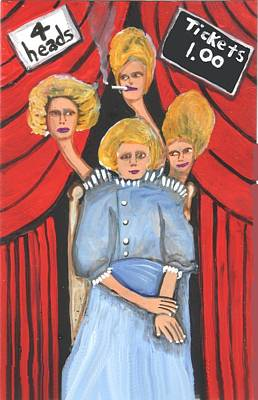 Incredible 4 Headed Woman Poster