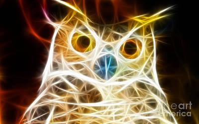 Incredible Owl Portrait Poster by Pamela Johnson