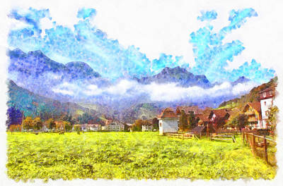 Incredible Swiss Landscape Poster by Ashish Agarwal
